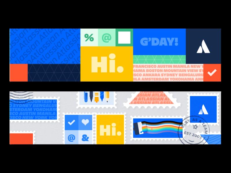 Show off your Atlassian pride in LinkedIn and Zoom illustration design atlassian