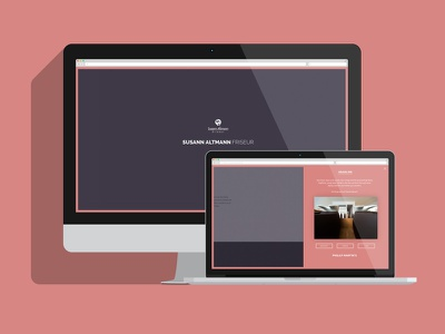 Screen Design for a Hairdresser screen webdesign responsive