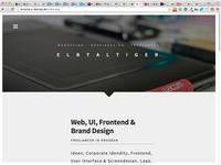 Self Promotion Website webdesign design website