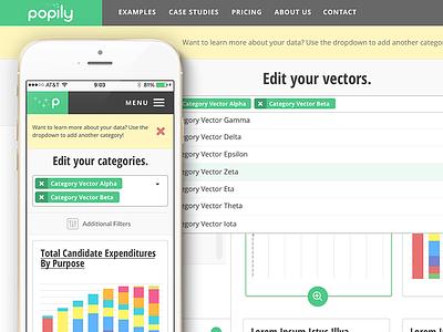 Popily.com Design System ui responsive web design