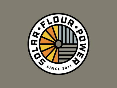 Solar Flour Power Badge pennsylvania farming powered solar sun millstone