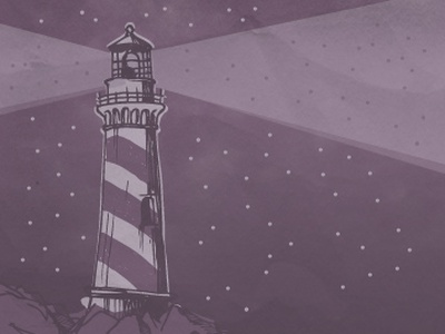 A Giant Candy Cane Lighthouse purple cognition lighthouse illustration 3-hour-rule