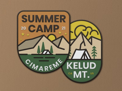 Summer Camp Patches sticker patches adventure branding badges badgedesign badge logo illustration vintage badge retro vintage logo badge