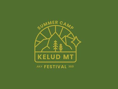 Summer Camp Badge illustration branding badges badgedesign badge logo vintage badge retro vintage logo badge