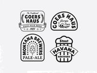 Beer Badge Label Templates