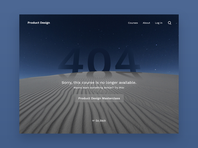 #DailyUI 008 - 404 uidesign minimal design dailyui dark ui ui desert error message error page error 404 error page 404 page 404