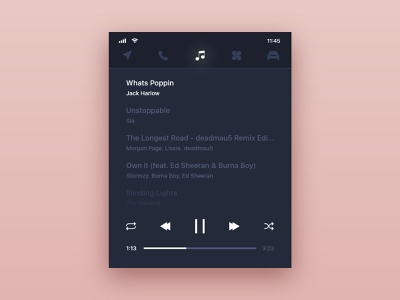 #DailyUI challenge 009 - music player redesign concept redesign music player music pure design minimal daily ui uidesign ui interface design car interface car eletric volvo concept design concept dailyui