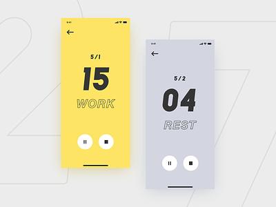 #DailyUI challenge 014 - countdown timer sport app sport mobile design mobile app mobile app design mobile ui timer timer app countdown timer countdown uidesign minimal design ui