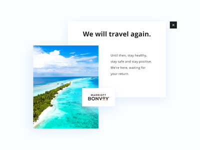 #DailyUI challenge 016 - popover travel agency travel marriott covid19 island luxury design luxury brand luxury overlay popup design popup maldives light uidesign minimal design ui