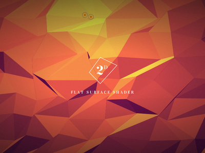 Flat Surface Shader 2d shader triangle polygon graphic