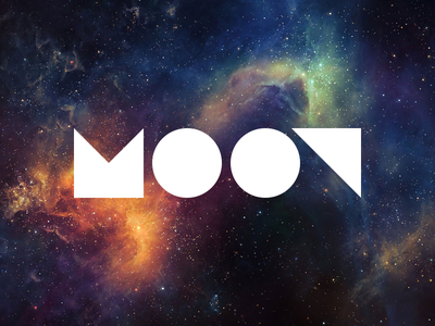 Moon moon logo space
