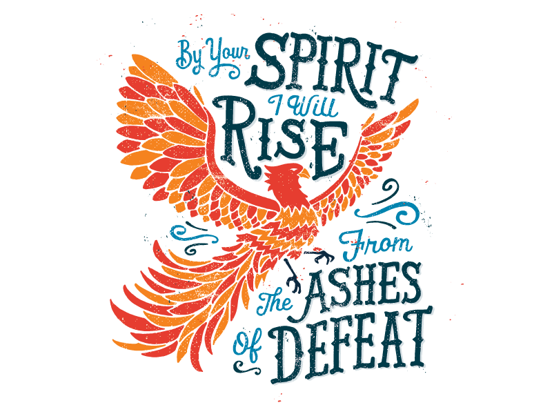 Quiet Boy Studio - Ashes of Defeat illustration graphic design design hand lettering typography