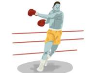 Boxing illustration childrens illustration editorial illustration boxing