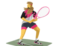 Tennis player Illustration tennis illustration