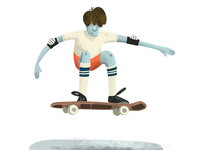 Skateboarder illustration procreate kids illustrator digital character design cartoon sports art 2d illustration