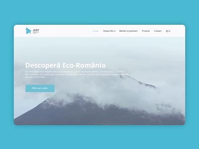 AER - website navigation clean navigation digital interactive ui ux animation