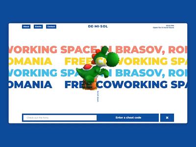 Demisol - Website navigation typography design illustration branding digital gif interactive ui ux animation