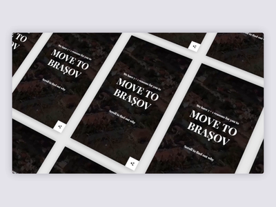 Move to Brasov - Homepage navigation gif websitedesign agency design clean digital interactive ux ui animation