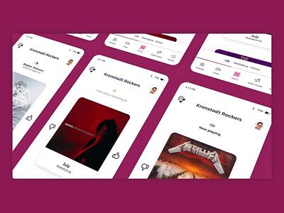 MUSHIN - mobile navigation navigation interactive digital startup app ui ux animation