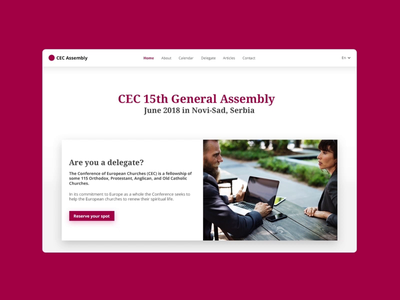 Conference of European Churches - Website navigation navigation websitedevelopment websitedesign design ux ui digital interactive animation