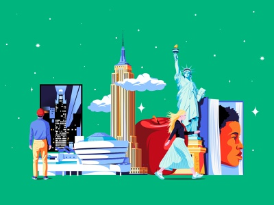New York - BBC Culture Traveller nyc thebigapple newyorkcity newyork ny ilustracion colors adobe editorial design artwork digital illustrator illustration vector