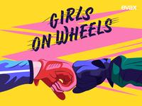 Girls on wheels! art texture inspiration editorial artwork design digital illustrator illustration vector