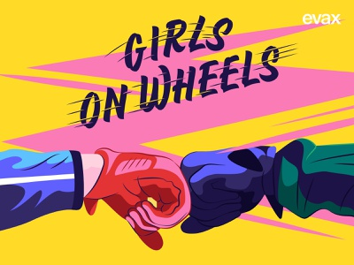 Girls on wheels! art texture inspiration editorial artwork design digital illustrator illustration vector