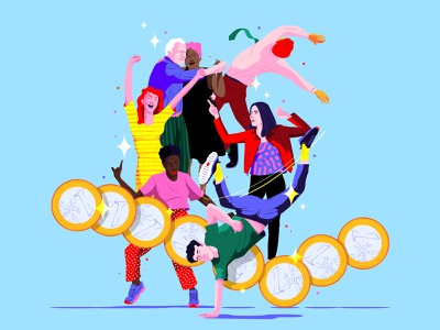 Roaring Twenties roaring twenties economy forbes magazine editorial artwork design digital illustrator illustration vector