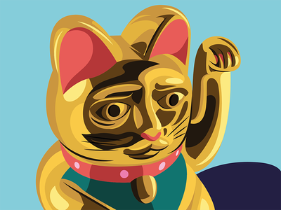 Maneki Neko - Lucky charm vector usa inspiration illustrator illustration editorial digital design artwork art