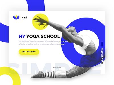 NY School of Yoga landing tittle tittle landing yoga of school onescreen