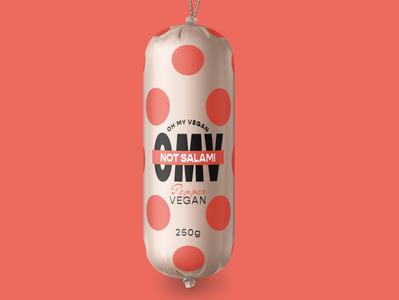 Vegan Brand Packaging vegan salami vegan brand branding salami branding packaging not salami salami