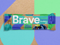 Sustainable Protein Bar Packaging brave logo brave design clean moder young packaging sustainable brand protein bar protein kraft sustainable packaging
