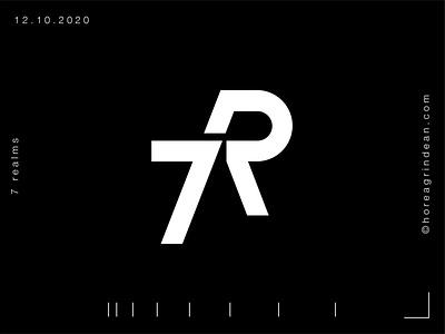 7R Logo clean dynamic energy sport realms realm black and white white logo 7 7r 7r