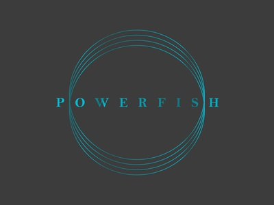 powerfish logo for wireless charger made with fish leather premium packaging premium branding premium logo electronics power fish devices chargers wireless