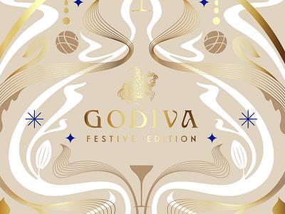 Godiva Art Nouveau Festive Edition Concept concept festive edition limited edition art nouveau alcohol premium alcohol liqueur chocolate godiva