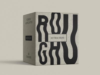 Condom Packaging Concept attraction black and white spicy rough mixed bold logo branding natural kraft sustainable sustainable packaging sexual love artistic simple clean modern condoms