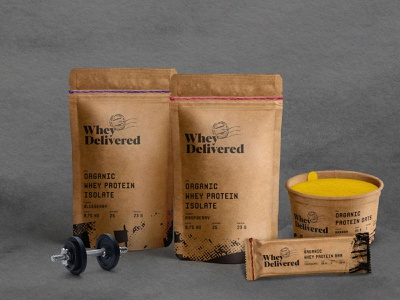 WheyDelivered Sustainable Packaging kraft natural organic supplement whey protein sustainability sustainable