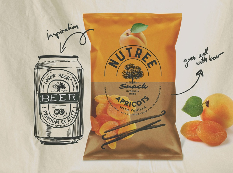 Nutree Snack Sustainable Packaging sustainability natural organic kraft nutree beer snack apricots dried fruits eco eco packaging sustainable packaging packaging sustainable