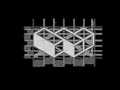 Work Builders Symbol Grid isometric designthinking concept company startup grid layout grid logo grid design vector math design flat function form modernism modern logo symbol letter grid