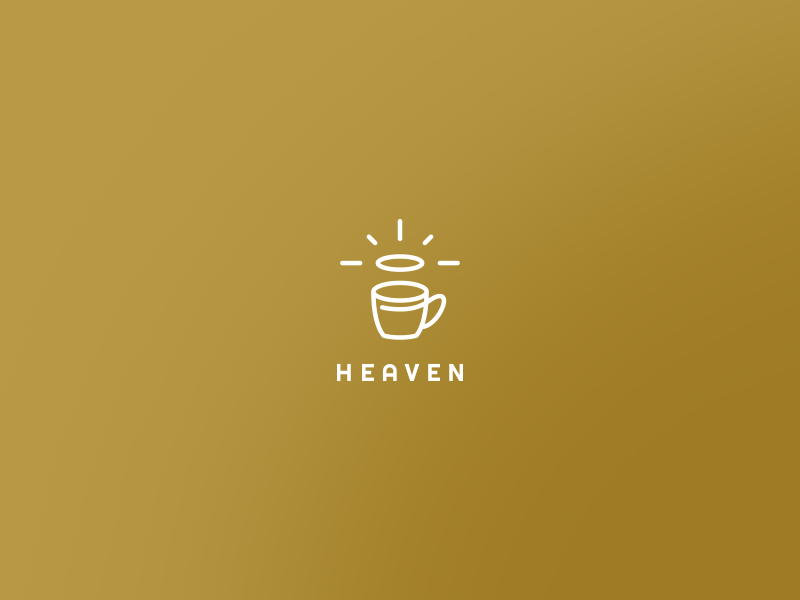 Heaven cafe logo branding mug coffee coffee bar logo