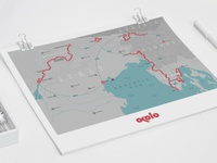 Adriatic sea cycling tour map