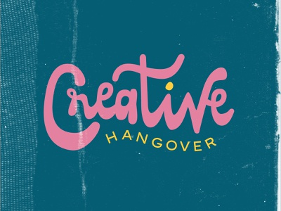 Moods & Vibes bubble letters pink lettering hangover