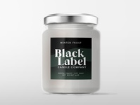 Black Label Candle Company - Label Mockup