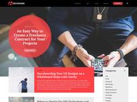 Webblog Mockup