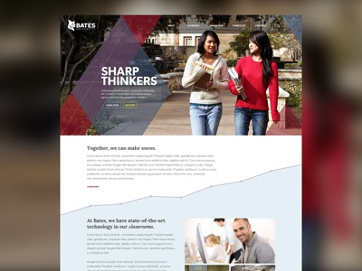 Online College Website college blog redesign ui ux mobile responsive website