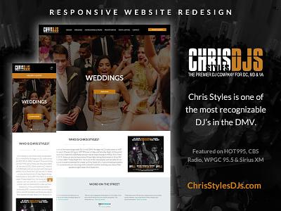 ChrisStylesDJ.com Redesign deejay website mobile css html responsive redesign