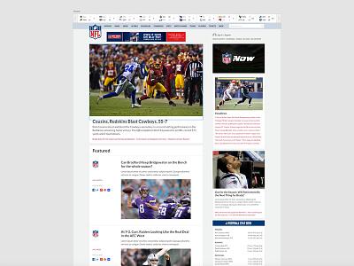 NFL.com redesign usability redesign nfl responsive website