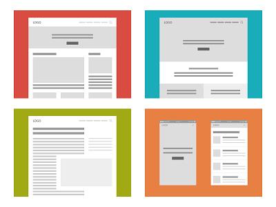 Sample Wireframes website ui ux mobile desktop wireframes