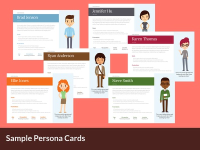 Persona Cards usability design ux personas user experience