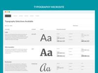 Typography Microsite